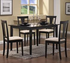 Dining Room Cheap Table And Chairs White Country Style Wall Mounted Clock Black Furniture Sets
