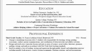 Special Education Teacher Resume Examples Physical Best