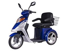 XMB 420 Elite 3 Wheel Electric Mobility Scooter Blue