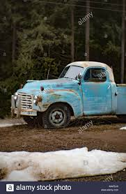 A Blue 1957 International S120 Pickup Truck, In An Old Quarry, East ...