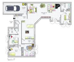 plan maison plain pied 3 chambres en l plan maison plain pied 3 chambres 110m2 immobilier pour tous