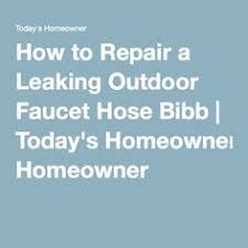 Replacing Outdoor Faucet Valve by How To Repair A Leaking Outdoor Faucet Hose Bib Home Maintenance