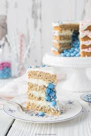 coconut gender reveal cake
