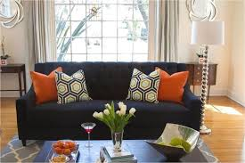 find here 44 stunning navy and orange living room ideas