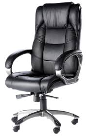 high back soft feel leather executive office chair black