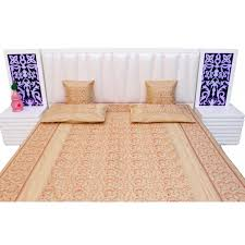 White Kutchi Embroidered Handloom Double BedSheet With 2Pillow Covers 98