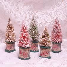 Miniature Spool Bottle Brush Tree Christmas Santa Vintage 5 Inch By GumDropSugarShop On Etsy