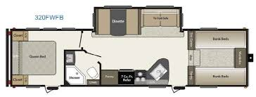 Fifth Wheel Bunkhouse Floor Plans by New Keystone Rv Springdale 320fwfb Fifth Wheel For Sale Review
