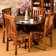 Induscraft Sheesam Wood Dining Table Set