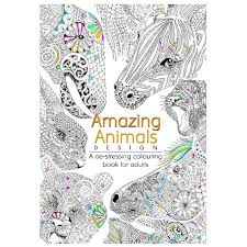 View Images Colouring In Books Gt Adult Rolfes Amazing Animals