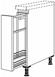 nobilia line n auszugsschrank 1 handtuchhalter 1 auszug