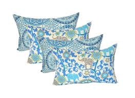 Get Quotations Set Of 4 Indoor Outdoor Decorative Lumbar Rectangle Pillows