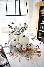 White Pumpkin Copper Fall Centerpiece
