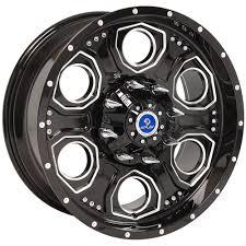 100 6 Lug Truck Rims 20x9 Wheels And Tires Fit GMC Chevy S Black Machd Rim