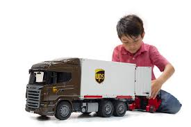 Bruder 3581 Scania R-Series UPS Logistics Truck With Fork Lift ...
