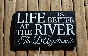 100 River House Decor Sign Cottage Cabin Personalized
