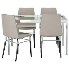 preben glivarp table and 4 chairs transparent tenö light grey 125