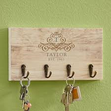 Elegant Monogram Name Key Hook