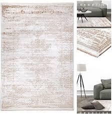 vintage teppich mit 3d optik 3950 ar in braun beige weiche