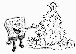Spongebob Squarepants Christmas Coloring Pages Images Pictures