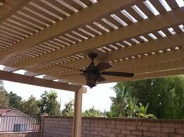 Alumawood Patio Covers Reno Nv by Lattice Beachwood Alumawood Patio Cover With Ceiling Fan Patio