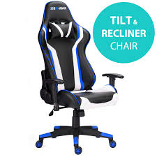 RG-MAX Pro Reclining Sports Racing Gaming Office Desk PC Fx Leather ...