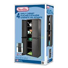 Sterilite 4 Drawer Cabinet Platinum by Amazon Com Sterilite 01423v01 4 Shelf Cabinet Flat Gray Cabinet