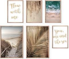 bold design poster set strand meer 4 x din a4 2 x din a3 harmonierende bilder für wohnzimmer schlafzimmer 6 wandposter ohne rahmen