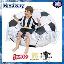 BESTWAY (75010) Beanless Soccer Ball Inflatable Chair [bc63]- (Black White)  - Premium Best Promo Bb45e Inflatable Football Bean Bag Chair Chelsea Details About Comfort Research Big Joe Shop Bestway Up In And Over Soccer Ball Online In Riyadh Jeddah And All Ksa 75010 4112mx66cm Beanless 45x44x26 Air Sofa For Single Giant Advertising Buy Sofainflatable Sofagiant Product On Factory Cheap Style Sale Sofafootball Chairfootball Pvc For Kids