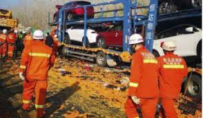 9 Dead In 28-truck Pile-up In Central China | Bangladesh Sangbad ...