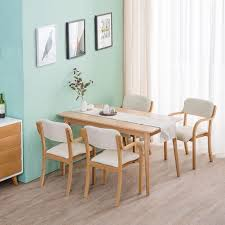 LXLA Solid Wood Modern Dining Chairs Simple Lounge Seat With ...