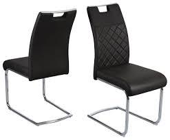 2er set schwingstuhl silber schwarz 43 x 99 x 63 cm küchenstuhl esszimmerstuhl küche
