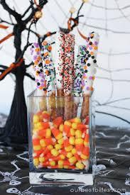 Halloween Pretzel Rod Treats by Dipped Pretzel Rods Our Best Bites