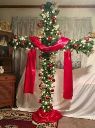Christmas Tree Cross Made With PVC Pipe 6 Feet Tall 4 Wide Crafts
