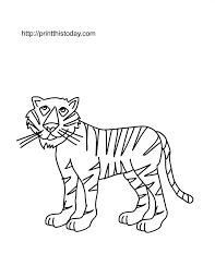 Free Printable Tiger Coloring Page