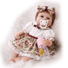 18inch Reborn Baby Dolls Newborn Realistic Soft Silicone Girl Toy At