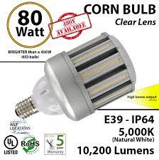 350 watt light bulb hid hps replacement 80w led 10200 lumens