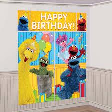 Halloween Scene Setters by Sesame Street Scene Setter Decoration Set Birthdayexpress Com