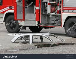 100 Fire Truck Parts Road Accident White Car Truck Stock Photo Edit Now