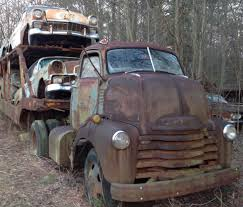 Mystery Car Hauler: 1950 COE & Four '56 Chevys | Bring A Trailer