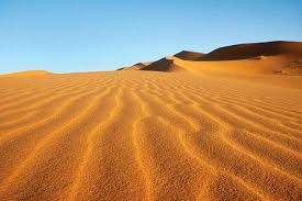 Sand Dunes In The Sahara Near Merzouga Morocco
