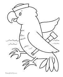Bird Coloring Book Pages