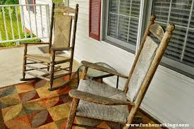 Vintage Banana Rocking Chair by Annie Sloan Chalk Paint Rocking Chair Makeover Fun Home Things