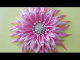 DIY Crafts How To Make Beautiful Kanzashi Satin Ribbon Flower