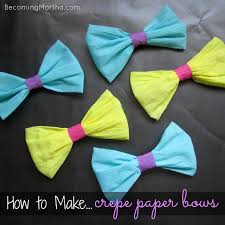 How To Make Bows Out Of Crepe Paper