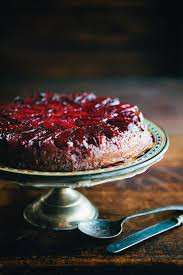 Upside Down Plum Cake Strikingly Beautiful But Easy To Make Serve With Whipped Cream It Will Offset The Tart And Sweet Plums Nicely