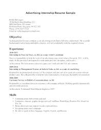 Intern Resume Samples Student Internship Sample Accounting For College