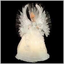 14 Inch Fiber Optic White Angel Treetop