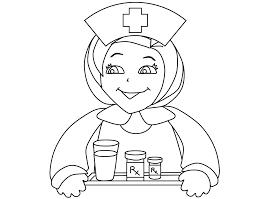 Printable Nurse Hat Coloring