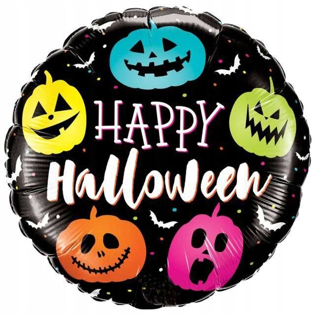 "Halloween Foil Balloon - Halloween Jack Faces (18"") 1Pc"